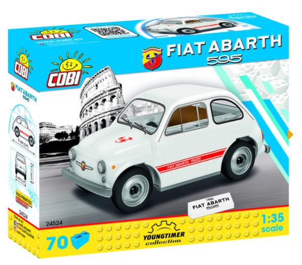 Cobi 24524 Fiat Abarth 595 Pad printed - no Stickers (Youngtimer Collection)