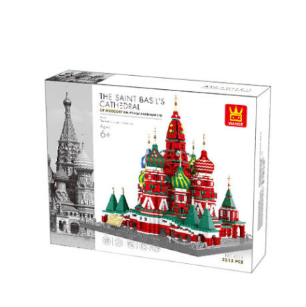 Wange 6213 Architect-Set St. Basilius Kathedrale Moskau 3213 Teile