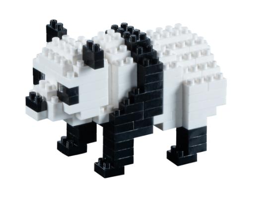 KNOLLIS Panda Bär by BRIXIES Artikel-Nr. 200110