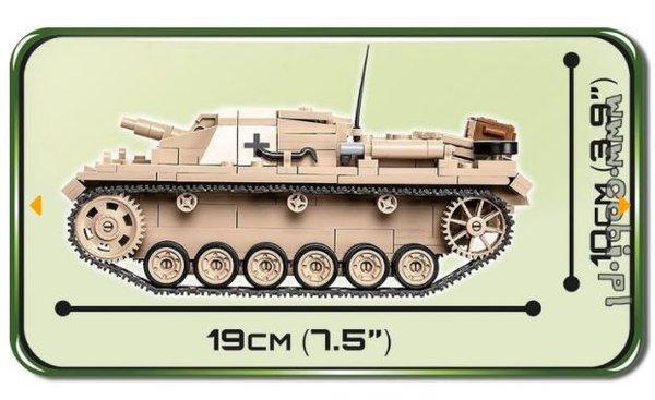 Cobi 2529 Sturmgeschütz III Ausführung D Pad printed - no Stickers (Historical Collection WWII)