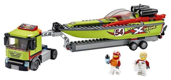 60254 LEGO® City Rennboot-Transporter