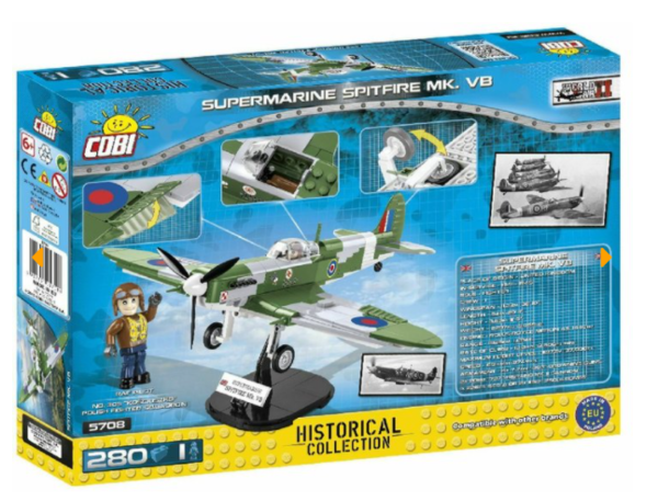 Cobi 5708 British Army Supermarine Spitfire MK.VB (Historical Collection - New Version)