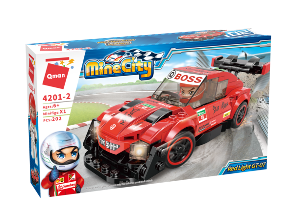 Qman 4201-2 Mine City Red Light GT-07