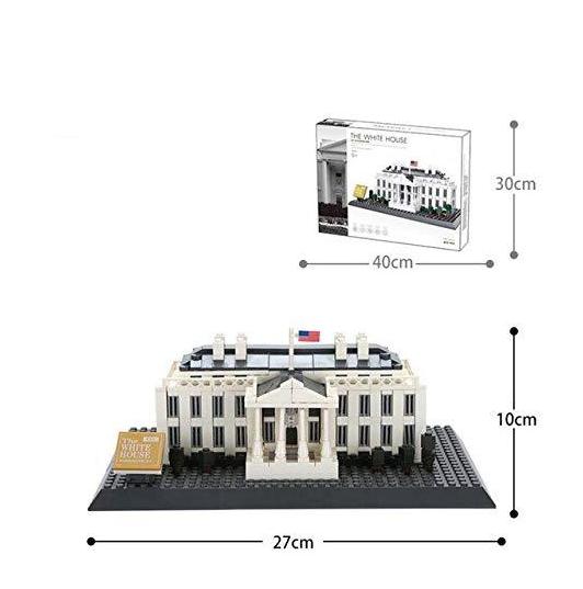 Wange 4214 Architect-Set The White House of Washington 803 Teile