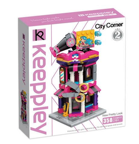 Keeppley by Qman C0111 City Corner 2 Schönheitssalon Friseur New Pretty Look