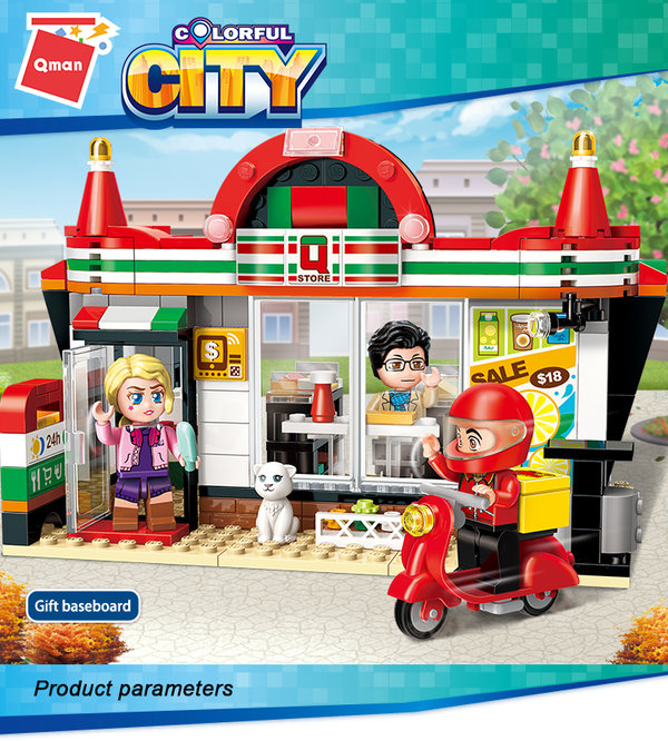 Qman 1133 Colorful City Easybuy Store