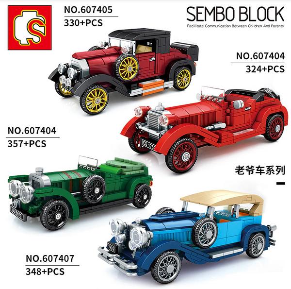 Sembo 607405 Classic Car Oldtimer weinrot-schwarz