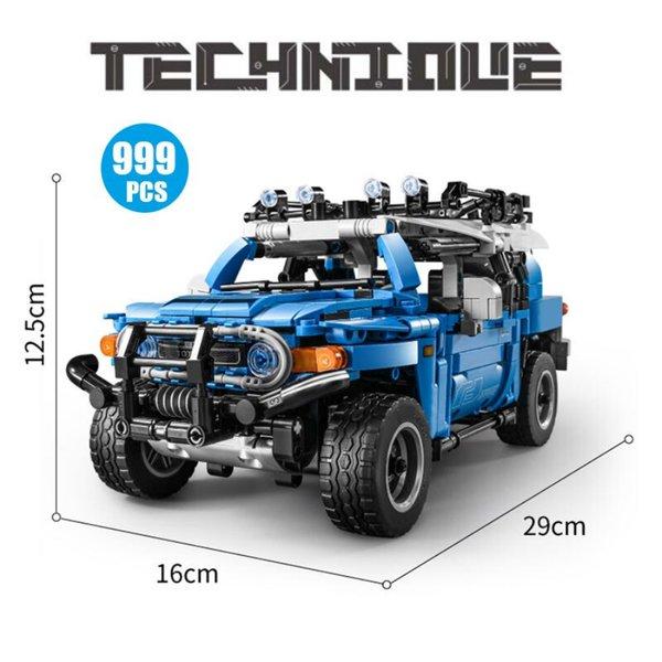 Sembo 8500 Blauer Geländewagen mit Pull Back-Funktion