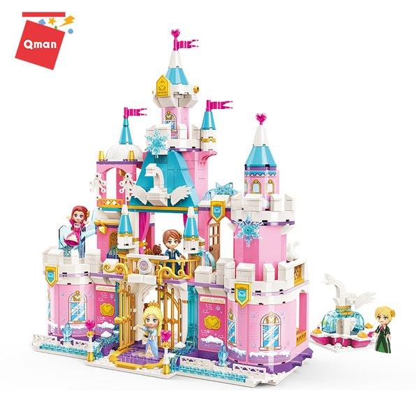 Qman 2616 Princess Leah Schwanen Schloss im Schnee