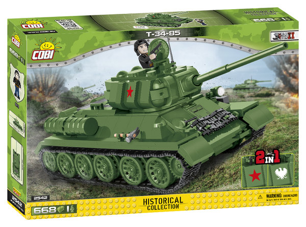 Cobi 2542 Russischer T34/85 2 in 1 Pad Printed (Historical Collection)