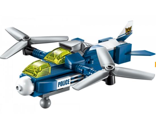 Qman 1407-5 Aircraft Storm / Transformer Polizeifahrzeug + Roboter