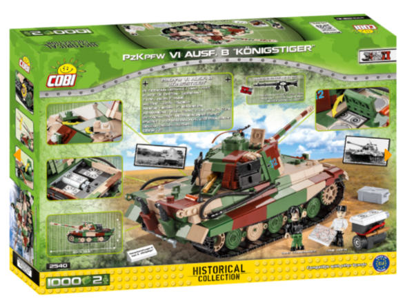 Cobi 2540 PzKpfW VI Ausf. B Königstiger Pad printed - no Stickers (Historical Collection, WWII)