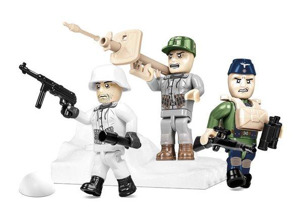 Cobi 2039 German Elite Soldaten-Figuren mit Zubehör (Historical Collection WWII)