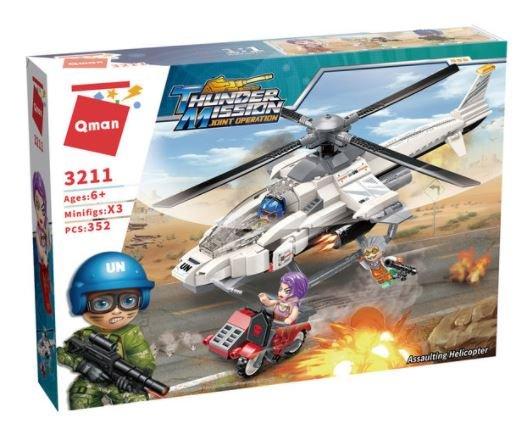 Qman 3211 Thunder Mission UN Einsatzhubschrauber Assaultin Heklicopter