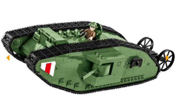 Cobi 2972 British Army Tank Mark I Mk. 1 Pad printed (Small Army Historical Collection WWI)