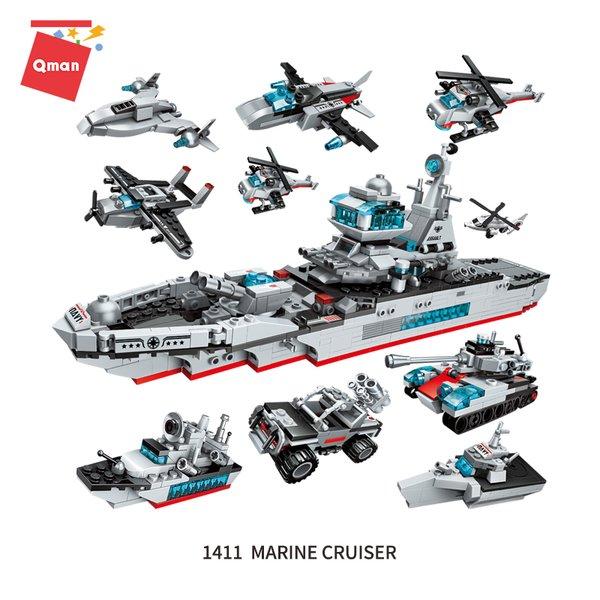 Qman 1411 Combat Zone Marine Cruiser Transform 8 into 1