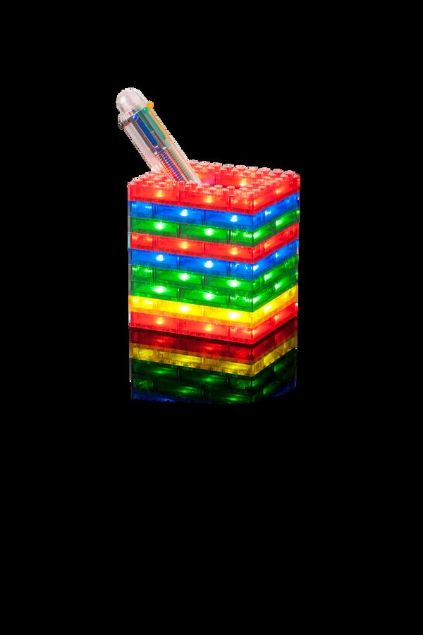 Light Stax 12013 SHINE SET mit 75 STAX (4 transparente Farben im Format 2x4) - LEGO®-kompatibel