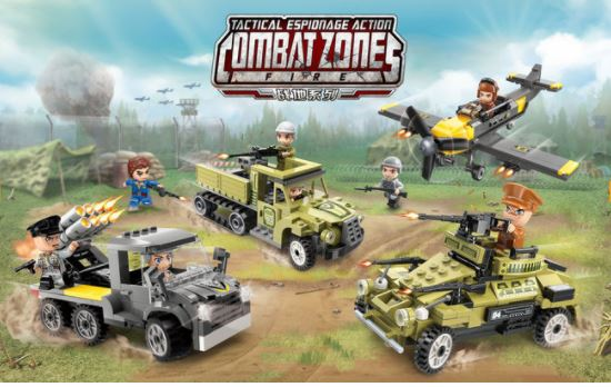 Qman 1731-3 Combat Zones Ketten-Truck mit Geschütz