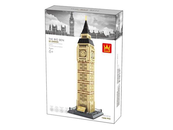 Wange 5216 Architect-Set The Big Ben of London 1642 Teile