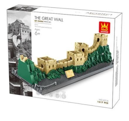 Wange 6216 Architect-Set The great Wall of China - Die Chinesische Mauer 1517 Teile