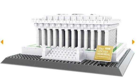 Wange 4216 Architect-Set Lincoln Memorial of Washington D.C. 979 Teile