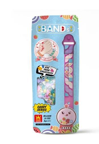 Wange 6504 pinkes Armband mit 1x1 Plates mit Süßigkeiten-Motiven