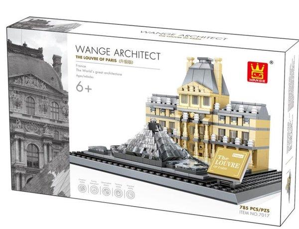 Wange 4213 Architect-Set The Louvre of Paris 821 Teile
