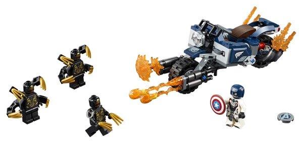 76123 LEGO® Super Heroes Captain America: Outrider - Attacke