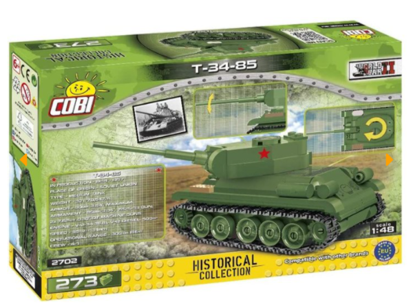 Cobi 2702 Panzer T-34-85 Scale 1:48 Pad printed - no Stickers (Historical Collection WWII)