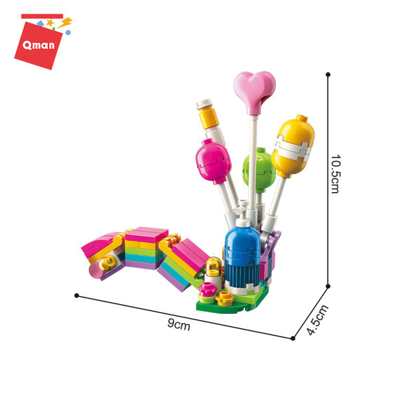 Qman 2008 Cherry Rainbow Ballon Stand