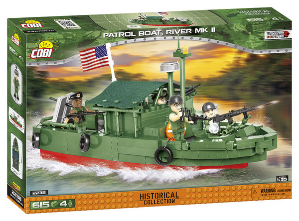Cobi 2238 Vietnam War PBR 31 Mk.II Patrol Boat, River