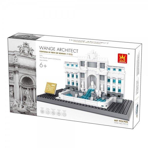 Wange 4212 Architect-Set Fontana di Trevi of Roma 667 Teile