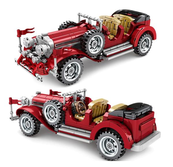 Sembo 701650 rotes Oldtimer Cabrio