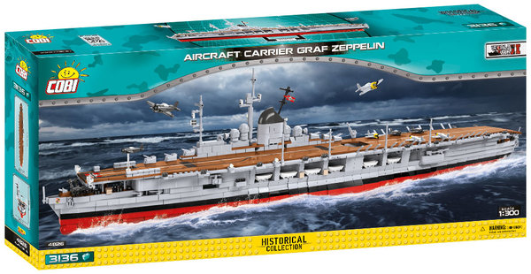 Cobi 4826 Aircraft Carrier Graf Zeppelin Pad printed - no Stickers