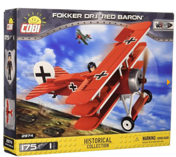 Cobi 2974 Fokker DR.1 Red Baron - der rote Baron - (Small Army Historical Collection WWI)