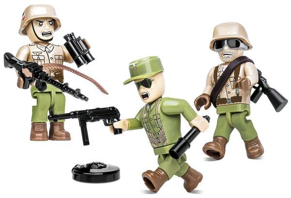 Cobi 2050 Africa Corps Soldaten-Figuren mit Zubehör (Historical Collection WWII)