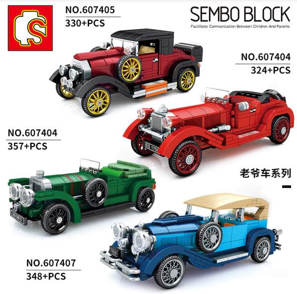 Sembo 607406 Classic Car Oldtimer grün