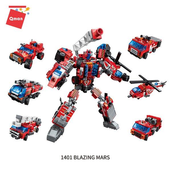 Qman 1416 Trans Collector Feuerwehr Fahrzeuge Blazing Mars Transformer