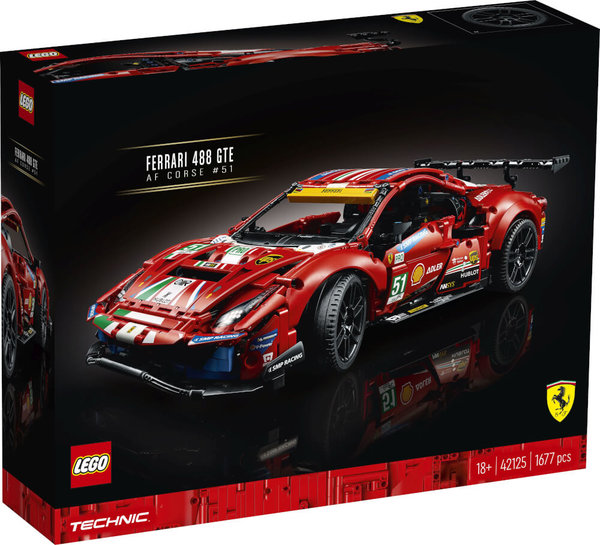 42125 LEGO® Technic  Ferrari 488 GTE AF Corse 51
