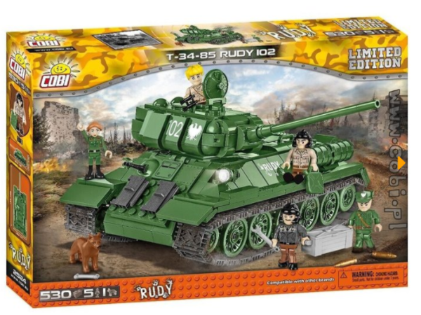 Cobi 2524 Polnischer T-34-85 Rudy 102 -Limited Edition- pad Printed (Small Army)