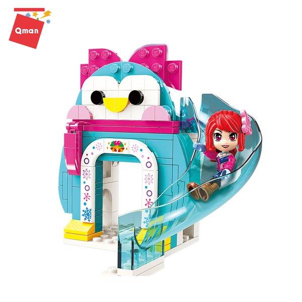 Qman 2023-1 Cherry Winter Pinguin Eis-Rutsche