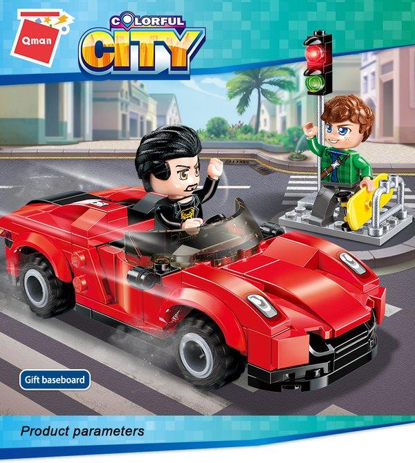 Qman 1131 Colorful City Greg's Supercar