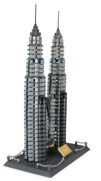 Wange 5213 Architect-Set The Petronas Towers of Kuala Lumpur 1160 Teile