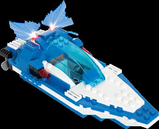 Stax Hybrid 30817 Speedboat Rennboot mit Licht und Sound