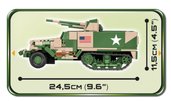 Cobi 2535 M3 Gun Motor Carriage Pad printed - no Stickers (Historical Collection, WWII)