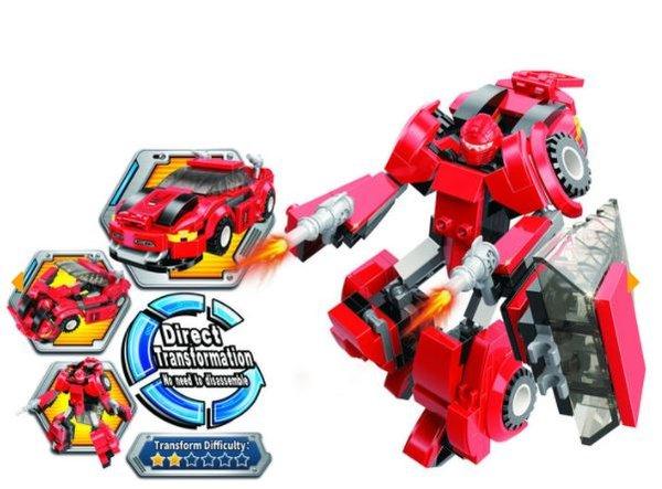 Qman 3305-1 Flaming Ranger / Transform Red Super Car in Ranger