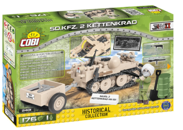 Cobi 2401 DAK S.D.KFZ 2 Kettenkrad (Historical Collection WWII) Pad printed - no Stickers
