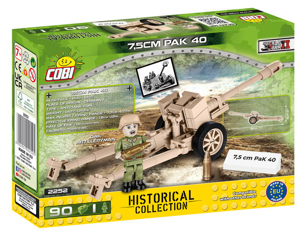 Cobi 2252 7,5 cm PAK 40 (Historical Collection WWII) New Version