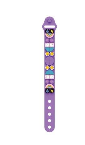 Wange 6503 lila Armband mit 1x1 Plates mit Wetter-Motiven