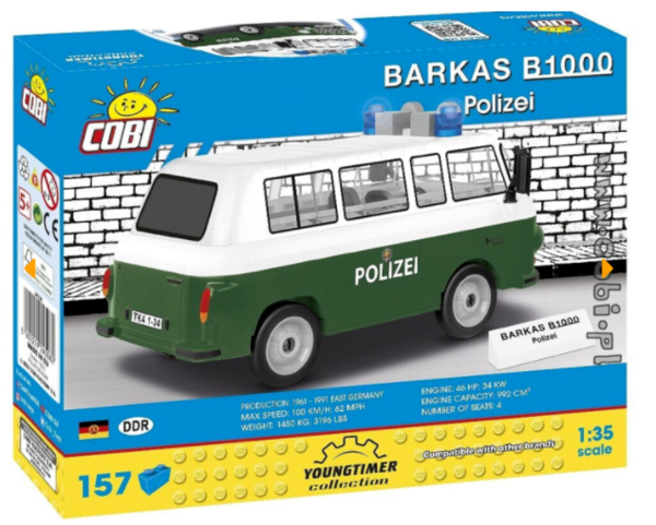 Cobi 24596 Barkas B1000 Polizei Pad printed (Youngtimer Collection)